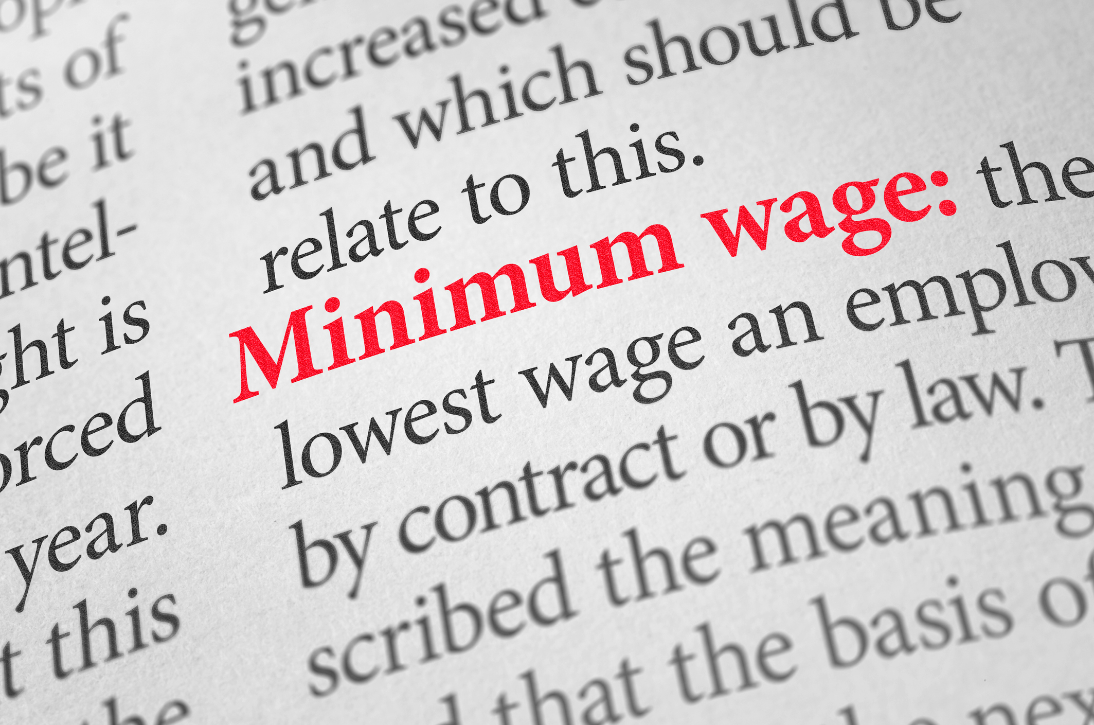 Minimum Wage – 1st April 2019