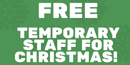 Let us to find you Temporary staff for Christmas Functions FREE?